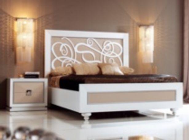 Oferta de Dormitorio lacado en visón y blanco por 1654€