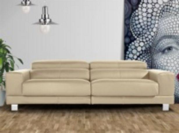 Oferta de Sofá con asientos deslizantes tapizado en piel por 1635€