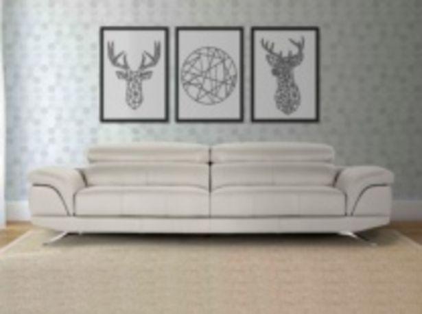 Oferta de Sofá con asientos deslizantes con tapizado en piel por 1755€