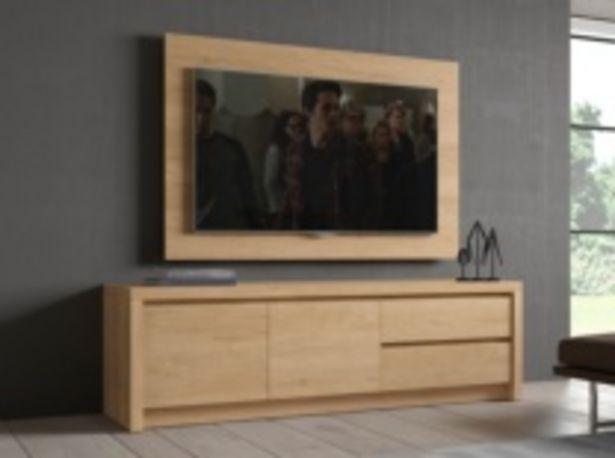 Oferta de Mueble tv en color teka con 2 cajones y 2 puertas por 483€