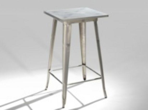 Oferta de Mesa alta en acero galvanizado de 60x60 cm por 253€