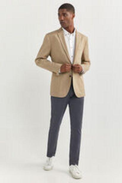 Oferta de Blazer tejido aspecto rústico lino por 17,99€