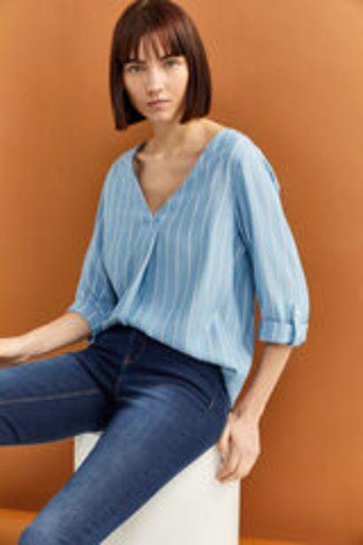 Oferta de Blusa rayas cuello pico por 5,99€
