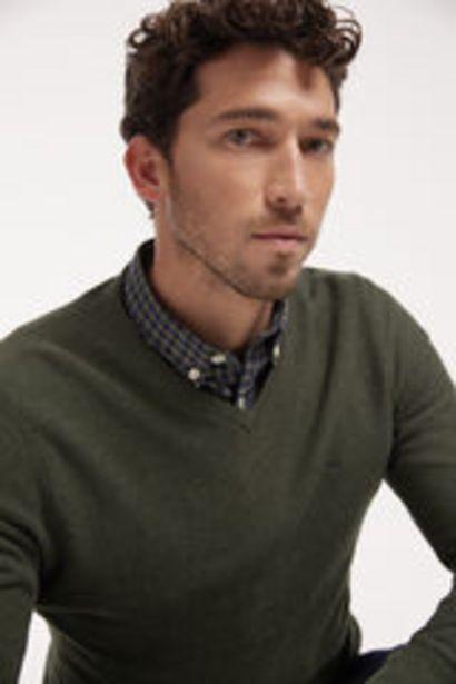 Oferta de Jersey cuello pico con microestructura por 19,99€