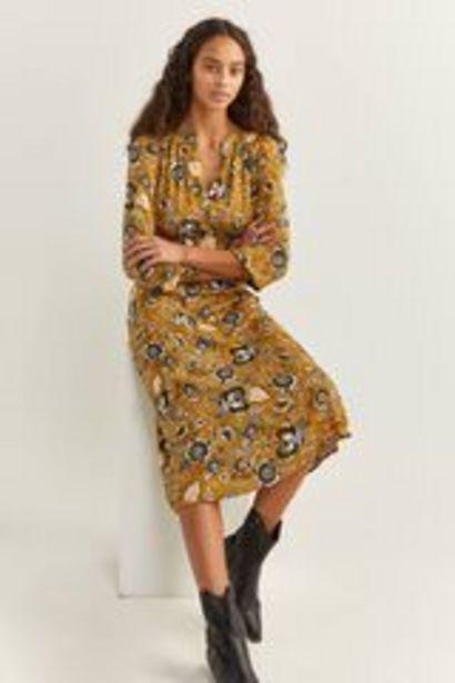 Oferta de Vestido Midi Estampado Flor Indiana por 15,99€