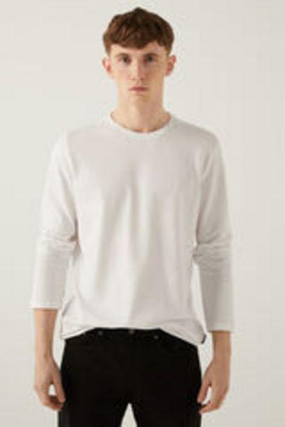 Oferta de Camiseta manga larga cuello panadero por 9,99€
