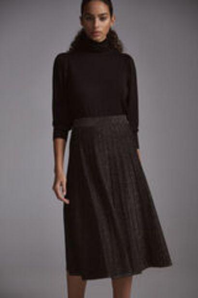 Oferta de Falda de lurex plisada por 25,99€
