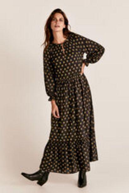 Oferta de Vestido largo cuello pico por 19,99€