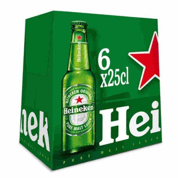 Oferta de HEINEKEN Cervesa holandesa suau 6 x 25 cl por 3,72€