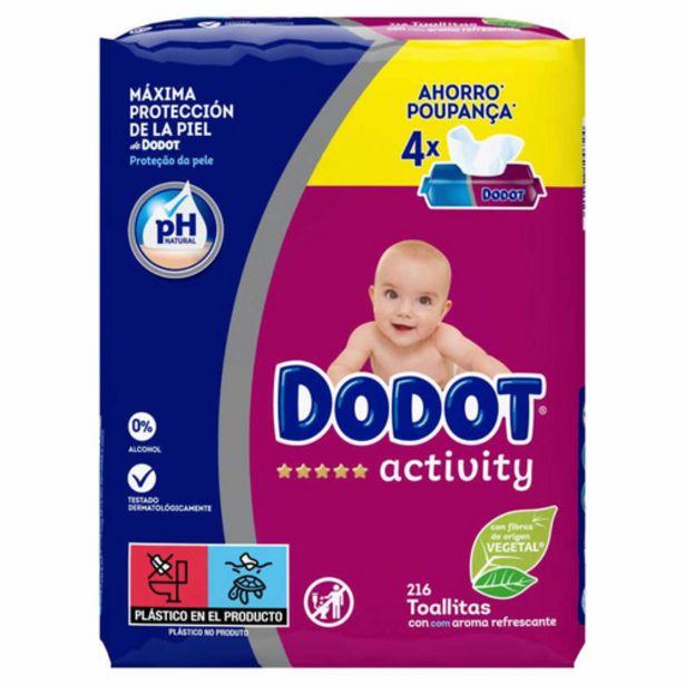 Oferta de DODOT Tovalloletes infantils Activity por 8,39€