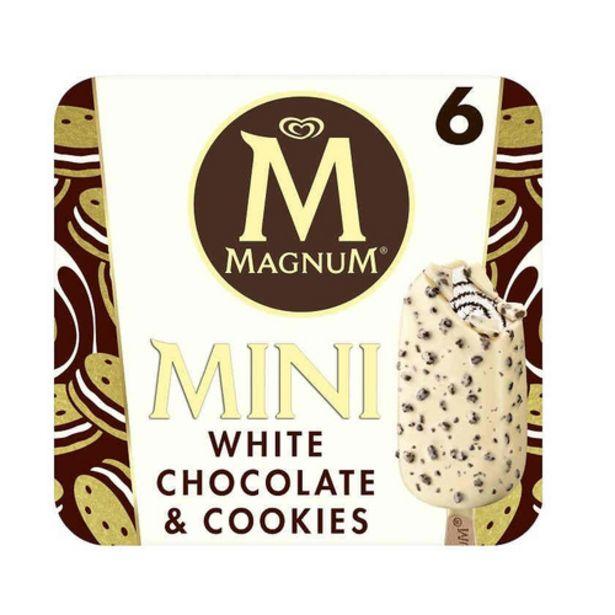 Oferta de MAGNUM Gelat mini xocolata blanca amb cookies por 4,69€