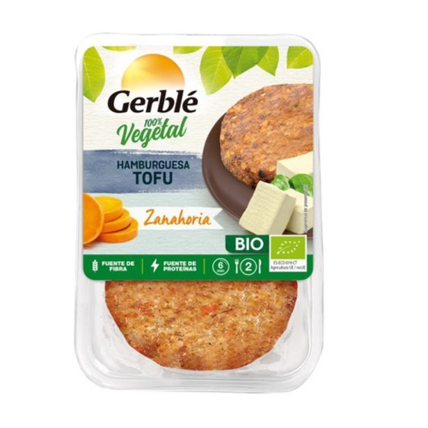 Oferta de GERBLÉ Hamburguesa de tofu i pastanaga eco por 2,99€