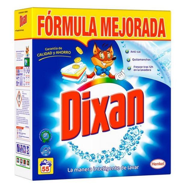 Oferta de DIXAN Detergent llevataques polvoritzat en envàs de 55 dosis por 8,99€