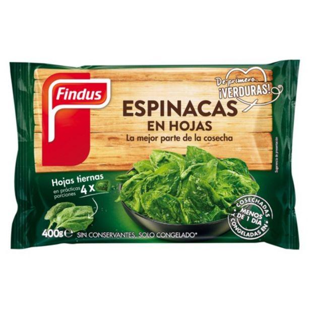 Oferta de FINDUS Espinacs en fulles por 1,89€