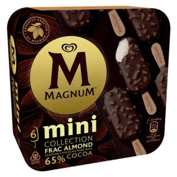 Oferta de MAGNUM Gelat mini nata, xocolata amb ametlles por 4,69€