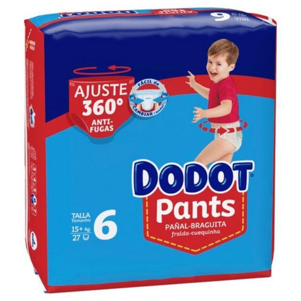 Oferta de DODOT PANTS Bolquers calceta T6 ( 15 kg) por 10,99€