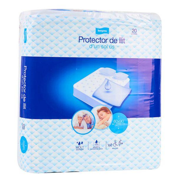 Oferta de BONPREU Protector de llit d'un sol ús por 6,99€