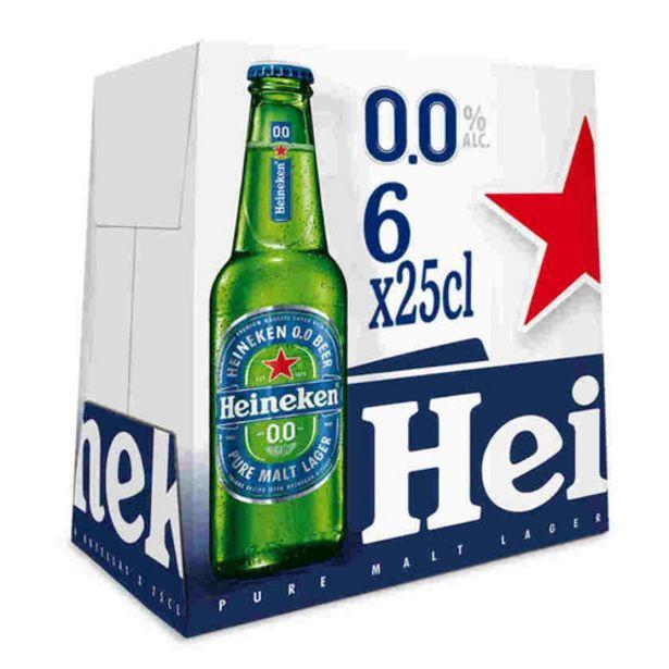 Oferta de HEINEKEN Cervesa 0,0% sense alcohol 6 x 25 cl por 3,72€
