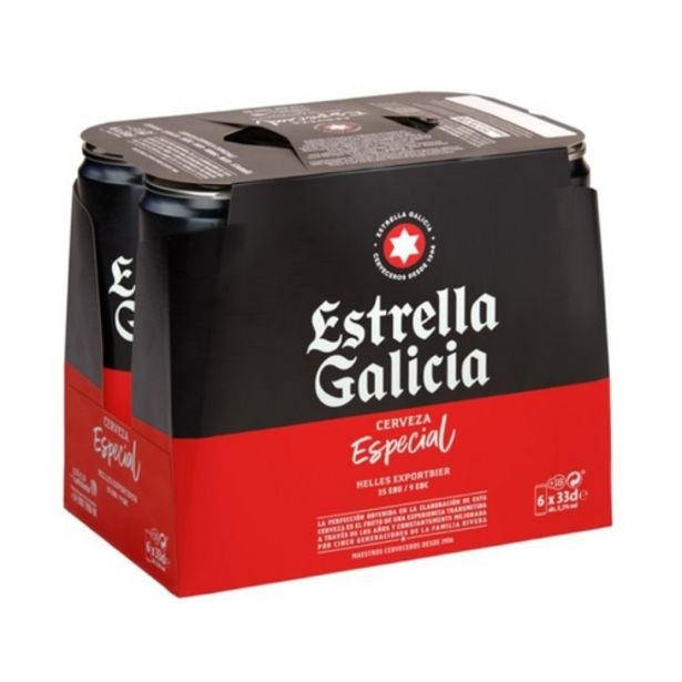 Oferta de ESTRELLA GALICIA Cervesa especial 6 x 33 cl por 3,95€
