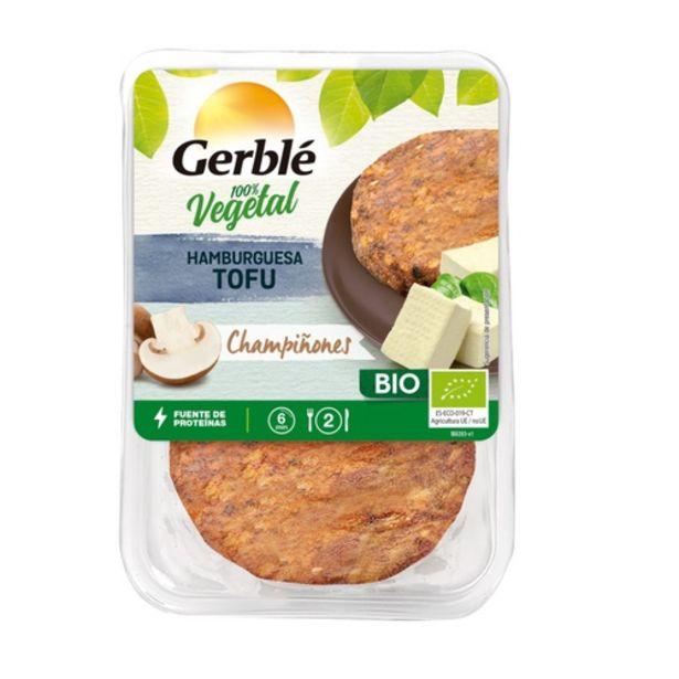 Oferta de GERBLÉ Hamburguesa de tofu i bolets ecològiques por 2,99€