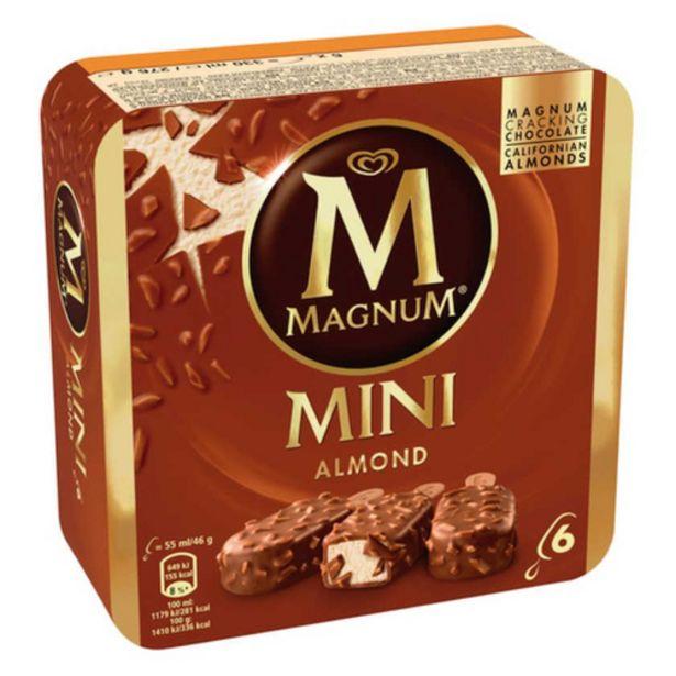 Oferta de MAGNUM Gelat mini de xocolata amb ametlles por 2,99€