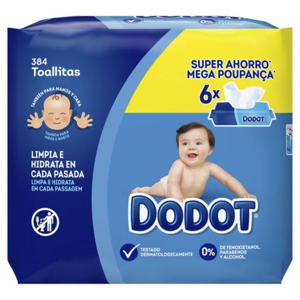 Oferta de DODOT Tovalloletes infantils por 8,59€