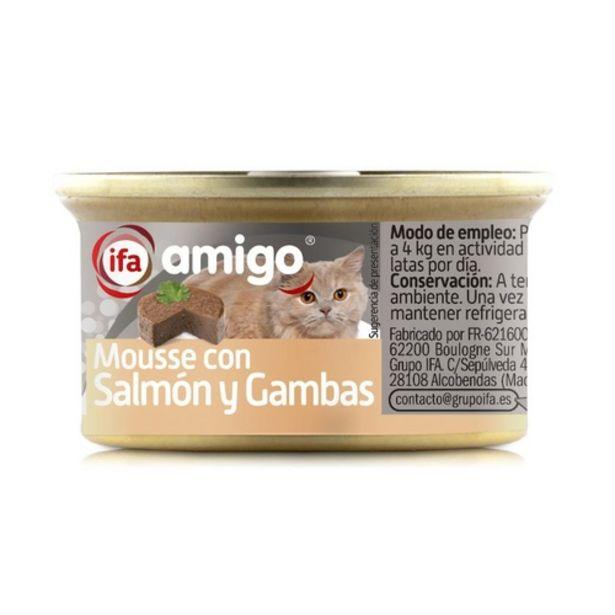 Oferta de IFA Mousse de salmó i gambes per gats por 0,39€