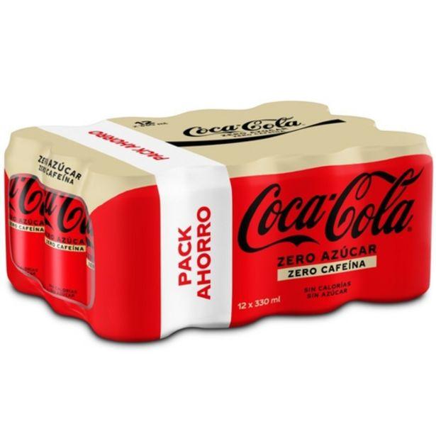 Oferta de COCA-COLA Refresc de cola zero sense cafeïna/sucre por 7,92€