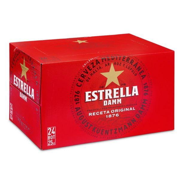 Oferta de ESTRELLA DAMM Cervesa 24 x 25 cl por 11,25€