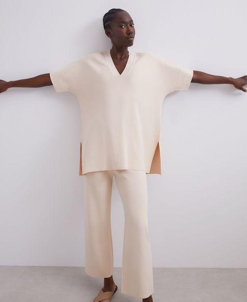 Oferta de Camiseta oversize asimétrica en viscosa por 49€