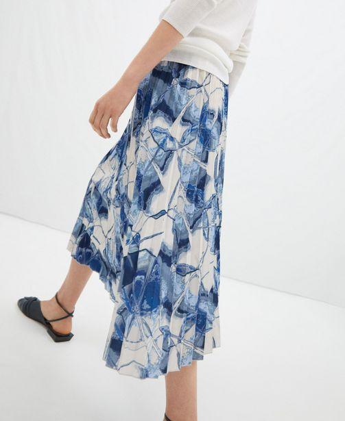 Oferta de Falda estampada en crinkle por 59€