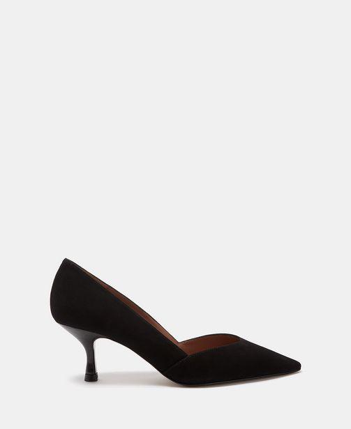 Oferta de Zapato tacón medio y corte asimétrico por 59€