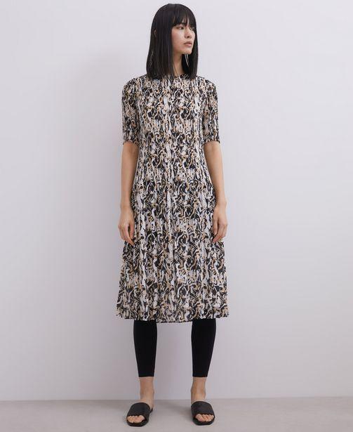 Oferta de Vestido midi estampado en crinkle por 89€