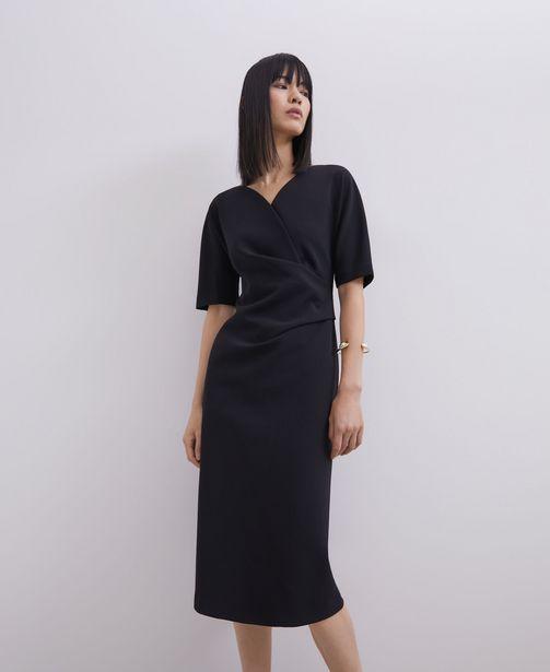Oferta de Vestido drapeado cuello pico por 69€