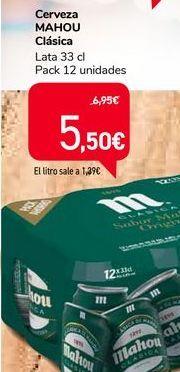 Oferta de Cerveza MAHOU Clásica  por 5,5€