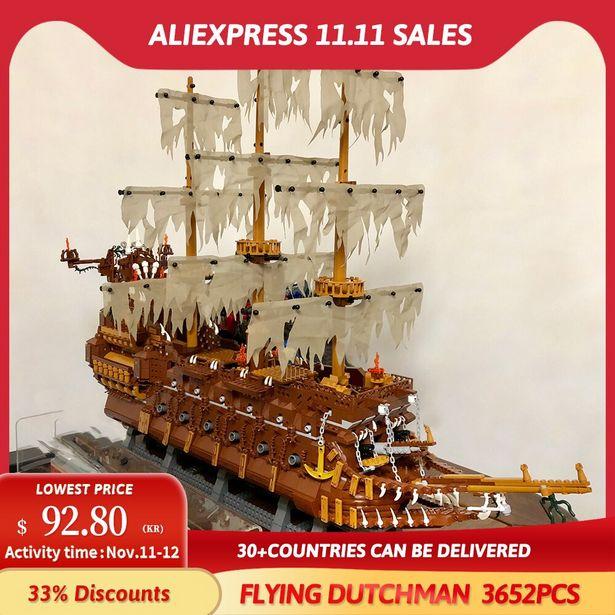 Oferta de JIESTAR-bloques de construcción de Barco Pirata para niños por 86,99€