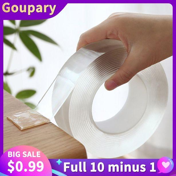 Oferta de Cinta adhesiva de doble cara para pared por 0,01€