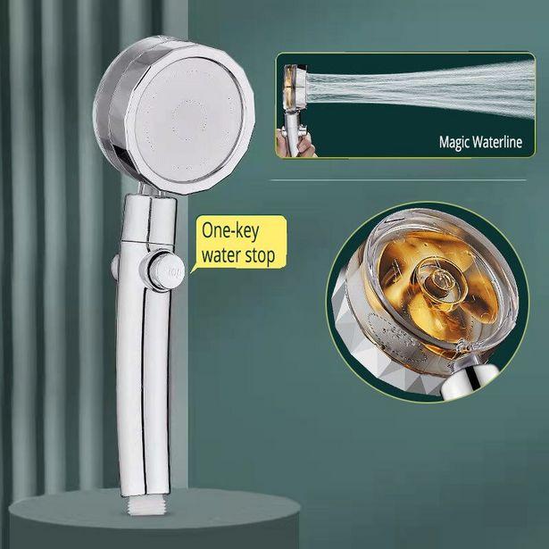Oferta de Cabezal de ducha de ventilador Turbo de lluvia por 2,17€