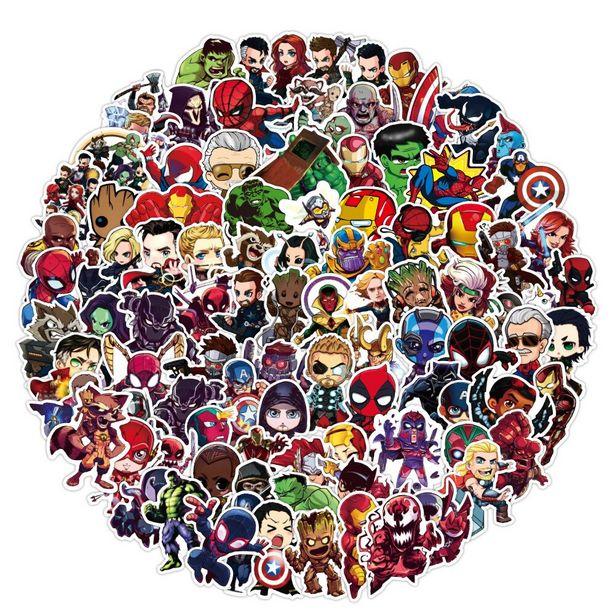 Oferta de Pegatinas de Marvel de dibujos animados para niños por 3,21€