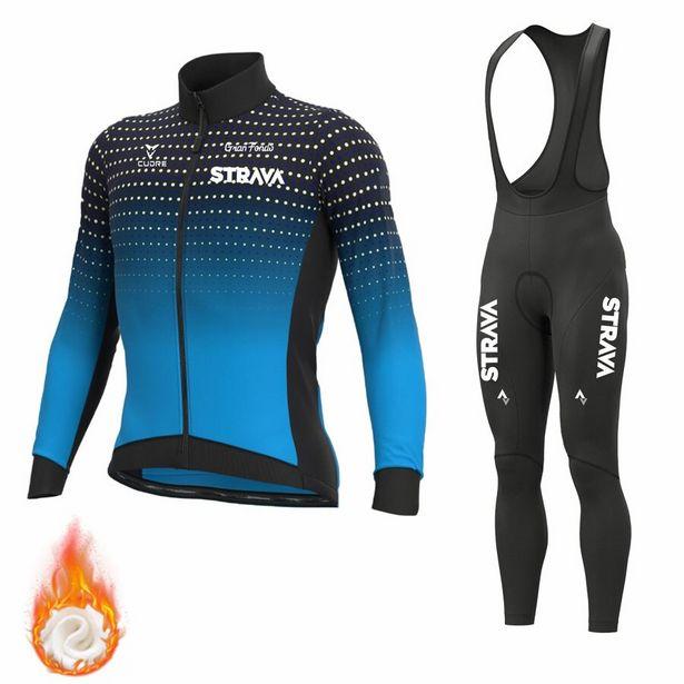 Oferta de STRAVA-Ropa térmica de lana para Ciclismo por 29,9€