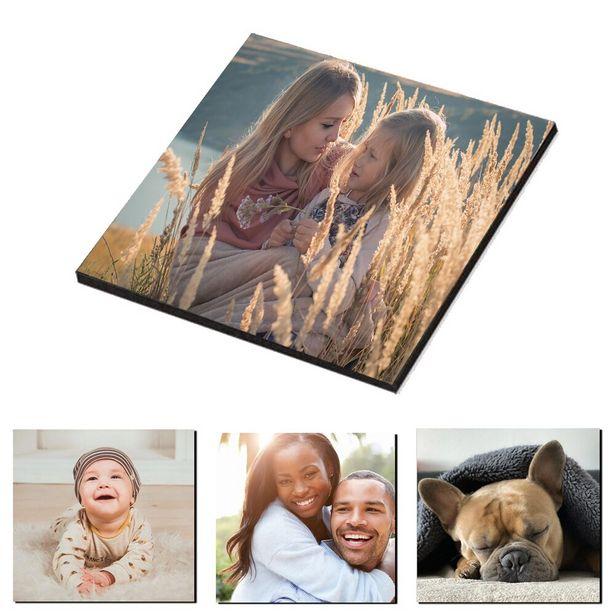 Oferta de Imanes de nevera con foto personalizada imanes para el refrigerador para decoración hogar 4cm fotos magnéticas para nevera regalo recuerdos bodas por 2,95€