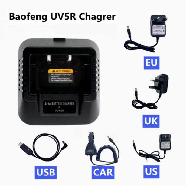 Oferta de Baofeng-cargador de batería de coche por 5,1€