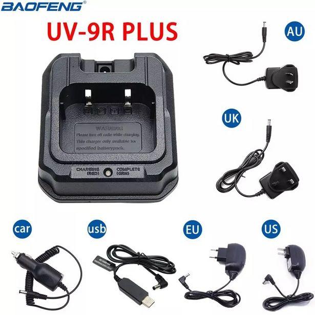 Oferta de Baofeng-cargador UV-9R Plus para walkie-talkie por 6,5€