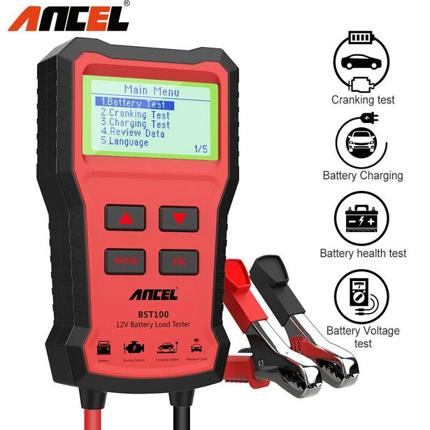 Oferta de Ancel-probador de batería de coche BST100 por 24,77€