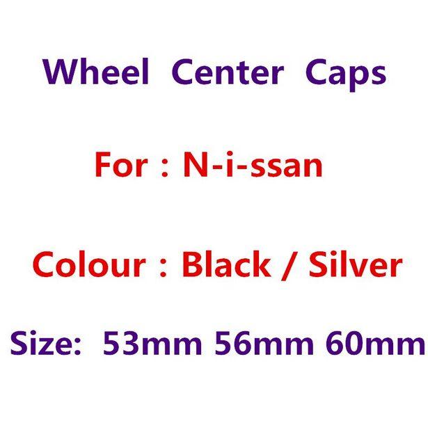 Oferta de Tapas centrales de rueda de color negro y plateado por 2,82€