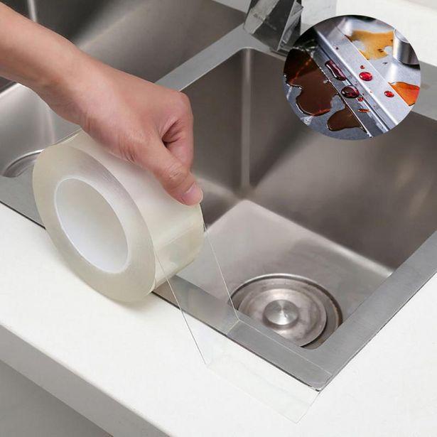 Oferta de Cinta adhesiva transparente para fregadero de cocina por 2,72€