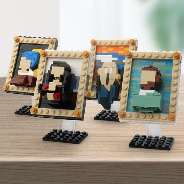 Oferta de Juego de bloques de construcción modelo Van Gogh MOC para niños por 4,77€