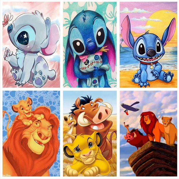 Oferta de Pintura de diamantes de dibujos animados de Disney por 0,88€