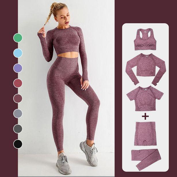 Oferta de Conjunto de ropa de entrenamiento para mujer por 7,51€