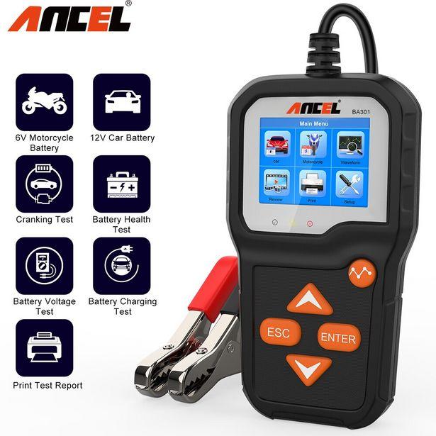 Oferta de ANCEL-probador de batería de coche BA301 por 39,51€